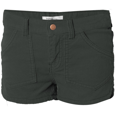 Surf Billabong made the Girls' Walker Corduroy Short out of stretchy corduroy and then sand-washed it to make it extra soft and comfy. Between that and the stylish look of the scalloped side seams, you're going to be pulling this short out of the laundry hamper and putting it back on day after day. - $12.58