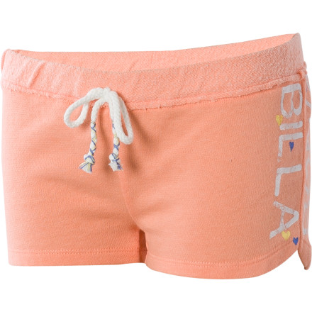 Surf It's Saturday, so why not pull on the Billabong Girls' Pocket Full Of Change Short and lounge around the house. You don't have soccer practice or dance class to attend, but if you did, this comfy short with drawcord would work just fine to play in to. - $12.98