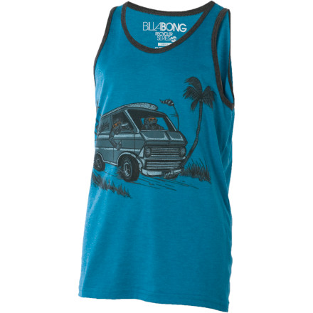 Surf Just because he's not old enough to operate a motor vehicle doesn't mean he can't slip on the Billabong Boys' Peeling Out Tank Top and burn rubber like a banshee. - $6.78