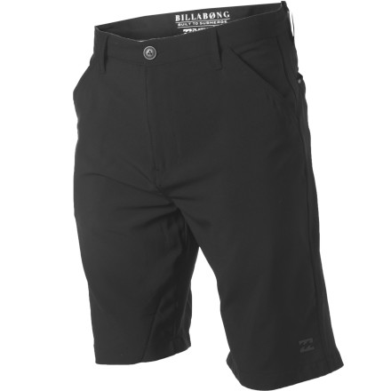 Surf Hear that surf pounding against the shore Reach for your Billabong Men's Crossfire Hybrid Short, head down to the water for a quick shred and then rip up the town in these very same shorts. Quick-drying Platinum X fabric has stretch to keep you moving freely in the waves and the chino styling looks like a million bucks out of the water. These shorts are fully submersible, unlike your cotton threads that only serve a purpose on the land. - $50.53