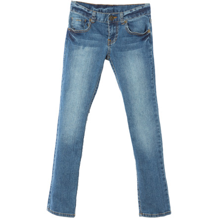 Entertainment Slip the slim-fitting Billabong Girls' Sun Day Denim Pant beneath your dress and get a look that's super-cute as well as ultra-functional. - $19.78