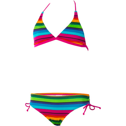 Fitness Billabong has given the cute suits in its collection cute girls' names, but we think the Girls' Sandy Swimsuit is more likely named after what it's going to be full of after a day at the beach. Your gal likes to get active, and this stretchy two-piece gives her the freedom to really dig in (so to speak) to her sand sculpture project. - $23.98