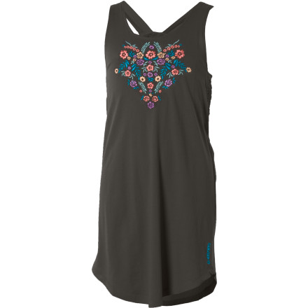 Entertainment Lay the Billabong Girls' Belle Flower Dress over your desk chair before you head to bed. Tomorrow you're presenting a book report to the entire class, and of course you want to look good. Its front Mexicana floral embroidery, racer-back style, chest smocking, and above-knee cut give you a comfortable, stylish look that helps you relax when you stand up in front of the class. - $12.78