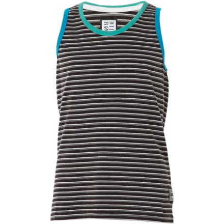 Surf The Billabong Hook Stripe Tank Top lets your grom-in-training rock the same style his big brother is feeling, hopefully without all the backtalk and lost innocence. - $9.78