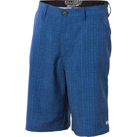 Surf Catch enough air off a speeding whitecap and the Billabong Boys' Cosmic Stripe Hybrid Short may just take you to the moon. Hydrostretch polyester offers comfort and flexibility for everything from steady surf sessions to sand volleyball tournaments. - $19.78