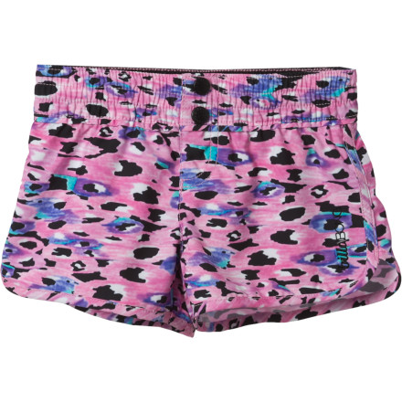Surf Ride a unicorn to the shore with the Billabong Girls' Lacey Board Short, where a team of dolphins will meet you to take you beyond the waves into a mystical sunset. - $15.78