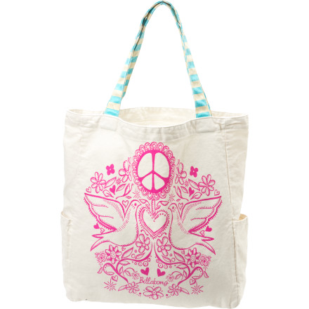 Surf Ditch the plastic bag look and stash all of your beach essentials in the Billabong Girls' Ladidah Bag. - $14.73