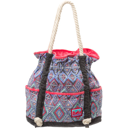 Surf Place all your must-haves in the Billabong Girls' North Bound Bag before you leave for the shore. - $19.73