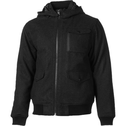 Surf When board shorts and a tank top have to wait 'til next spring, there's the warm and incredibly stylish Billabong Men's Liberty Jacket. Wool and polyester boost your casual look while the smooth and silky quilted lining and detachable hood elevate your comfort level. - $119.59