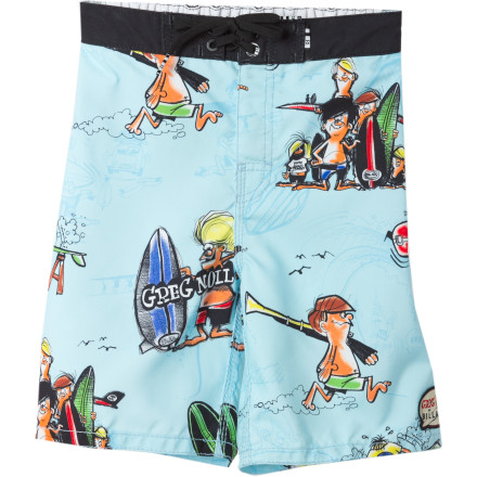 Surf The Billabong Wave Romper Board Short is also 100% approved for use as a Pool Romper, Lake Romper, or Waterpark Romper. - $26.97