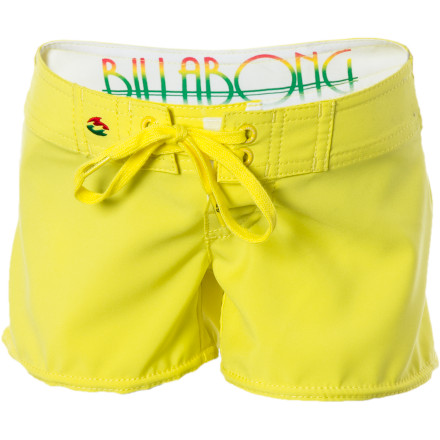 Surf The Billabong Little Girls' Andrea Board Shorts give your little clam digger a unique, fun look for the beach. Plus, the board-short style gives her a little more coverage than your average bikini bottoms. - $15.98