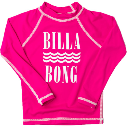 Surf Lathering sunscreen on your little girl is not your favorite pre-beach ritual, and it's not her favorite either. The Billabong Little Girls' Tori Long-Sleeve Rash Guard helps keep the sun off her shoulders, back, and front while she romps in the ocean waves. - $14.48