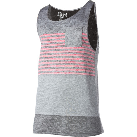 Surf The Billabong Komplete Tank Top, like its name suggests, completes any outfit. Yes, even if you decide to rock it with a navy blue blazer, a fuchsia wig, and a set of silver spurs around your rubber golashes. - $16.20