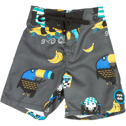 Surf The quick-drying Billabong Little Boys' Jungle Jive Board Short is just what your bouncing, extra-zealous water-monkey needs to spend an entire summer at the beach. - $18.88