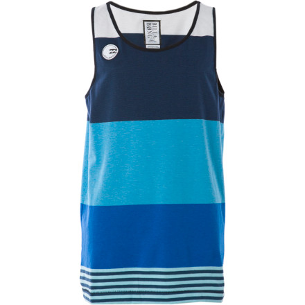 Surf It's never too early to get your grom into the ultimate beach look. The Billabong Little Boys' Komplete Tank Top shows the little ladies that he's completely serious about his guns. - $11.68