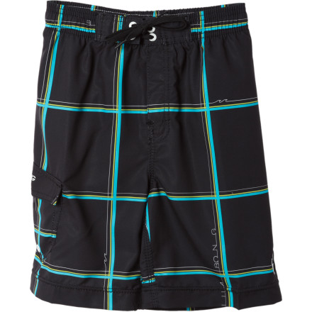 Surf Billabong wasn't kidding around when they made the Little Boys' R U Serious Board Short. A comfortable and simplistic polyester build keeps your young surfer supreme looking smooth as he cuts through waves and sand castles alike. - $19.73