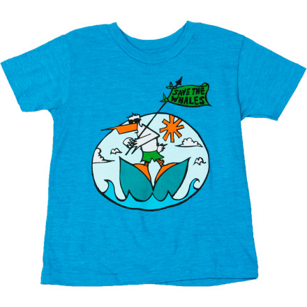 Surf Billabong Whales T-Shirt - Short-Sleeve - Little Boys' - $11.02