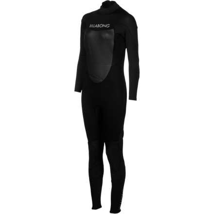 Surf When the water gets chilly slip on the Billabong Synergy 403 Back Zip Women's Full Wetsuit and be ready to surf all day. 4mm ZG300 neoprene on the body is thick enough to keep you warm, but super-stretchy so you don't feel like you're being restricted. - $111.62