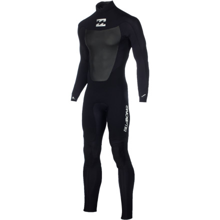 Surf When the water starts to warm up, but the weather hasn't made up its mind yet, reach for the Billabong Foil 302 Back Zip LS Men's Full Wetsuit. The AX2 AirLite SuperFlex 2 neoprene is lightweight and stretchy so you don't feel like you're wearing too much on warm days, and the Furnace thermal lining keeps you warm when summer squalls (and waves) are rolling through. - $104.62