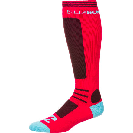 Snowboard Even the coldest days (or nights) on the hill seem like a party thanks to the warmth and stretchy comfort found in the Billabong Women's party Knee-High Sock. - $15.96