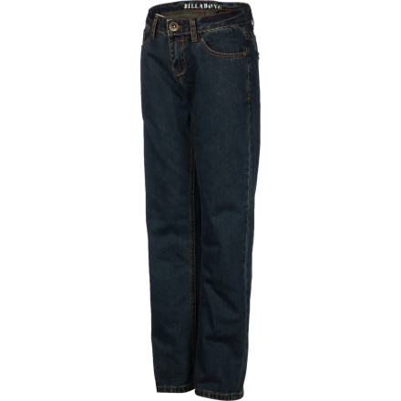 Surf Get Junior suited up in the Billabong Boys' Rex Denim Pant and watch the doors of opportunity swing wide open for him. What potential employer, university admissions head, debutante, or officer of the law could ever reject or incarcerate a young man in such a fetching pair of pants - $42.03