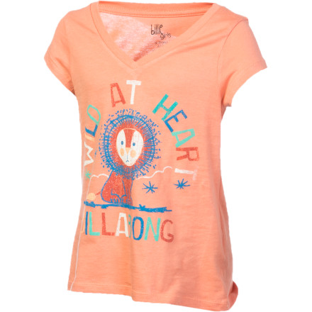 Surf Prowl, pounce, or just take a cat-nap in the Billabong Little Girls' To Be A Lion Shirt. Rawr. - $7.78