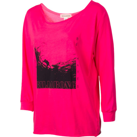 Surf The Billabong Women's Free Yourself Long-Sleeve Shirt has a cool, open feel that is perfect for relaxed hangouts with friends or red-wine evenings with your secret lover. It also works great for home-alone dance parties when you want to crank the stereo and strut your moves in front of the mirror. - $18.67