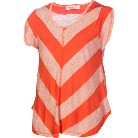 Surf The Billabong Girls' Hello Again Shirt is a fashionable dip-dyed top with petal sleeves and a roomy fit for layering in all seasons. - $13.98