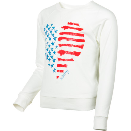 Surf Have your gal represent with the Billabong Girls' Little Patriot Long-Sleeve Shirt. Its flag-inspired graphics show national pride while its cozy fabric keeps her comfortable while she watches a football game with Dad. - $15.57