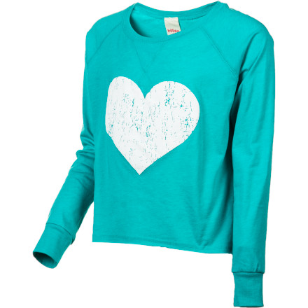 Surf The Billabong Girls' Wild Honey Long-Sleeve Shirt has a casual, fun feel that is great for backyard hangouts her neighborhood posse or school days when she wants a great look that doesn't take a lot of work. - $14.73