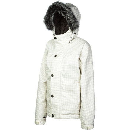Snowboard The Bonfire Women's Arena Jacket will keep you dry, warm and ready to ride that deep Wastach powder. Plus, the classic, urban styling packs enough big-city chic to keep you looking good when you come down from the mountain to check out the paparazzi-posing film-festival crowd. - $95.98