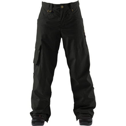 Snowboard With a style borrowed from workwear and performance steeped in outerwear technology, it is no surprise that the Ballistic Pant is a highly preferred Bonfire team pant for going to work in the backcountry and handling front-end business as well. The Ballistic Pant is built with highly abrasion-resistant Cordura fabric that doesn't even wince when you rub up against rails, rocks, and edges. - $109.97