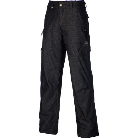 Snowboard The Bonfire Boys' Cargo Denim Pant switches up the classic cargo pant by utilizing a durable  denim with a DWR (Durable Water Repellent) finishstreetwear vibes with mountain-worthy tech. - $38.48