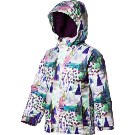 Snowboard Top off your little shredder with the Girls' Bonfire Posie Jacket and you can feel good about sending her out into the now. Synthetic insulation throughout keeps her nice and toasty all day and 10K waterproofing keeps her dry and comfortable. Of course, the only thing she'll care about is the fancy print, but you know she wouldn't be smiling so much if the Posie wasn't cozy. - $51.98