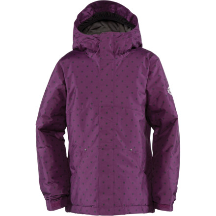 Snowboard The Bonfire Girls' Luna Jacket presents a clean style along with technical features for getting into nitty-gritty shred sessions. - $55.98