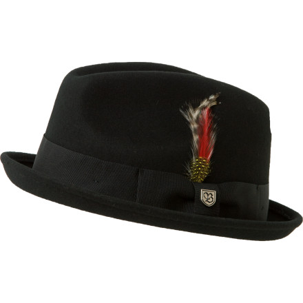 The Brixton Gain Felt Hat will make anybody feel extra enlightened. Smug attitude and pompous obsession with obscure philosophers not included. - $36.37
