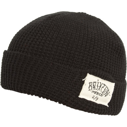 The Brixton Borrego Beanie (say that three times fast) hooks up a classic dockhand-style rolled cuff for a healthy dose of workwear-influenced radness. - $15.36