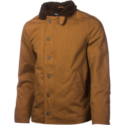Like a hero from a cheesy western, the Brixton Mast Jacket is ruggedly handsome on the outside and soft and fuzzy inside. The heavy twill shell fabric can stand up to years of abuse, and the soft Sherpa fleece lining insulates and feels good against the skin. - $54.98
