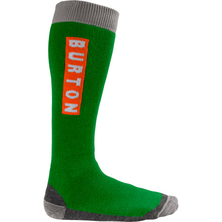 Snowboard Pull on the Burton Emblem Sock and shred like you mean it. This medium-density sock rocks padding in all the right places so you dont tear up the dogs while you throw down in the park, and the no-irritation toe seam keeps your foot fingers cozy. - $10.74