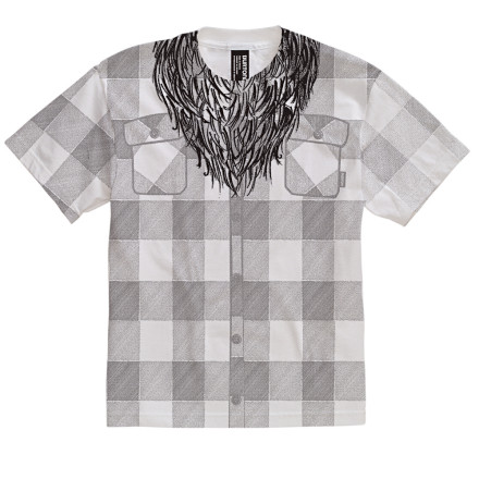 Snowboard Due to your pre-pubescent nature and subsequent inability to grow a beard mean enough to house small varmints, Burton made this Boys' Lumberjack T-Shirt. Yep, now you can buy beer and smokes, get into R-rated movies, and hit the strip clubs without the older siblings. - $3.39