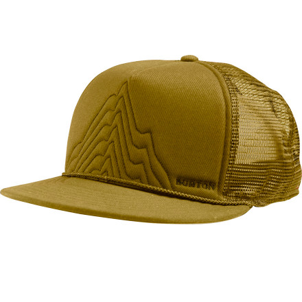 Snowboard Going for some abstract tan lines on your freshly-shaved head Pull on the Burton New Dawn Fades Trucker Hat and stay out in the sun all day. Soon you'll be known only as 'Waffleskull'. - $22.95