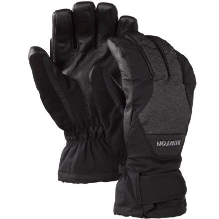 Snowboard Burton's Gore-Tex Leather Glove packs a ton of performance into a value-loaded package. Thanks to a Gore-Tex waterproof/breathable insert, Thermacore insulation, and a durable, grippy leather palm, you'll stay protected from the elements all season long. - $44.94