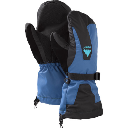 Snowboard Keep your little rippers hands warm and dry this winter with the Burton Kids Gore-Tex Mitten. The kids version combines all the features of the adult Gore-Tex Mitten, like two-layer Gore-Tex Ultrashell and low-profile, super-warm Thermacore insulation. - $28.14