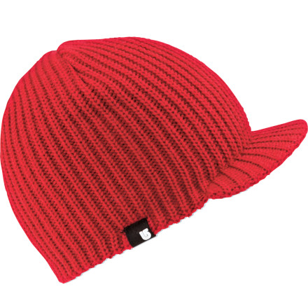 Snowboard You can wear the Boys' Ledge Beanie from Burton forwards, backwards, to the side, or inside out. It'll keep your head warm as long as you're wearing it. - $14.97