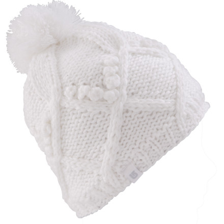 Snowboard The Pom on the Women's Burton Chloe Beanie harbors secret powers. To find out what they are you'll have to try the hat on and say the magic words. - $23.37