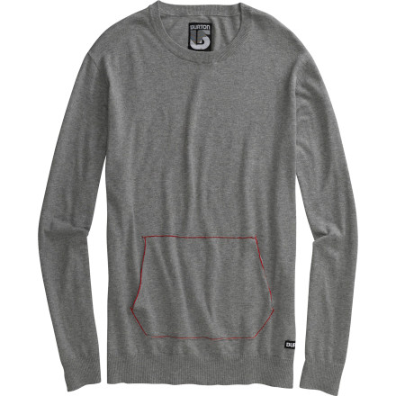 Snowboard Just like you were almost a rockstar, the Burton Almost Sweater almost achieved classy-cool evening wear status. The difference is that the sweater has a kangaroo pocket and you cried after losing your high school's battle of the bands. - $38.97