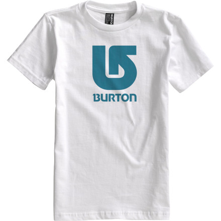 Snowboard Staying awake during math class might be your kid's biggest challenge. With the short-sleeve Burton Boys' Logo Vertical T-Shirt he'll at least have day dreams exciting enough to keep him awake. - $10.77