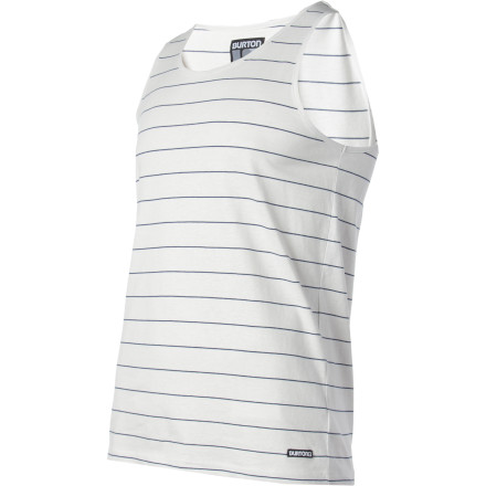 Snowboard Built with Burton's legendary Sig fit and fashion-future horizontal stripes, (that's right, stripes) the Burton Leeway Tank Top keeps your nipples covered while giving your guns some much-needed room to breathe. - $21.42
