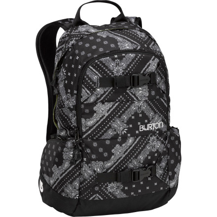Snowboard Thanks to an awesome combination of features like a dedicated shovel pocket, hydration sleeve, and padded laptop compartment, the Burton Day Hiker 20L Backpack easily transitions from sidecountry stash-hunting to school days. - $48.93