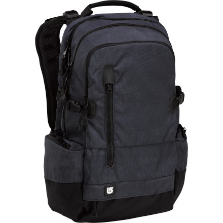 Camp and Hike The military-meets-modern Burton Bruce 28L Backpack works great for everything from daily commuting duty to all-day adventures. Durable ripstop fabric, compression straps, and a deployable waist-belt keep your cargo safe and secure when tromping around outside, while the dedicated laptop and organizer pockets handle the day-to-day. - $66.43